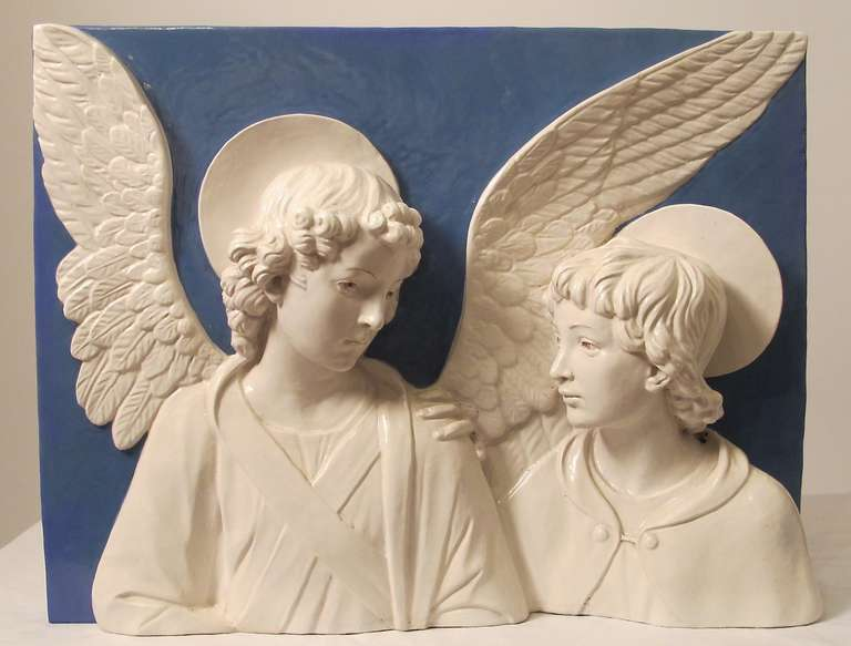 Large Della Robbia Faience Plaque At 1stdibs