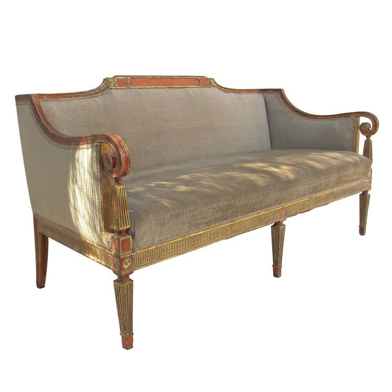 Superbe Neoclassical Style Sofa For Sale
