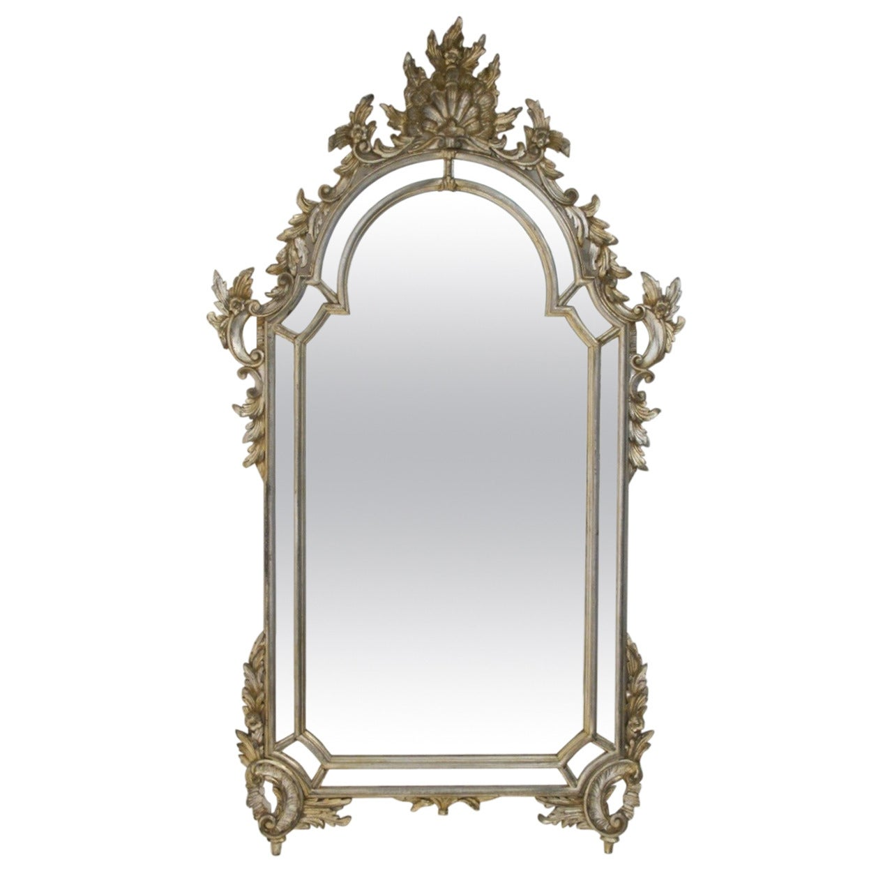 Italian silver gilt mirror at 1stdibs for What is a gilt mirror