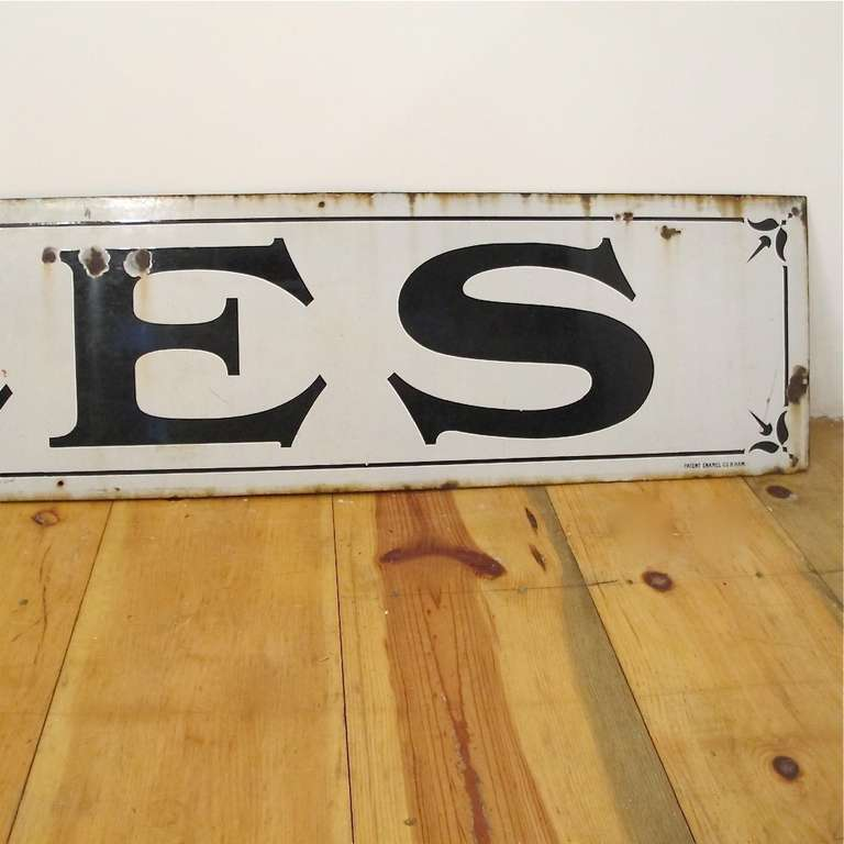 American Large Enamel Pub Sign For Sale