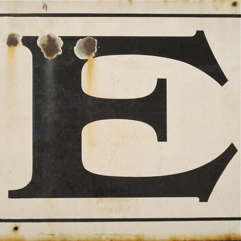 Painted Large Enamel Pub Sign For Sale