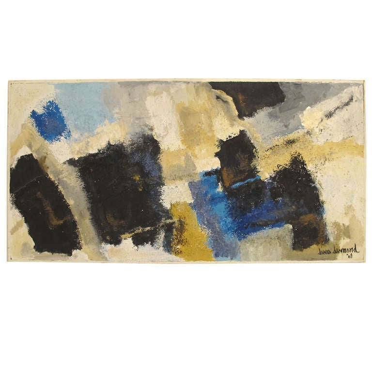 Mid-Century Modern Abstract Painting, California, 1968 For Sale