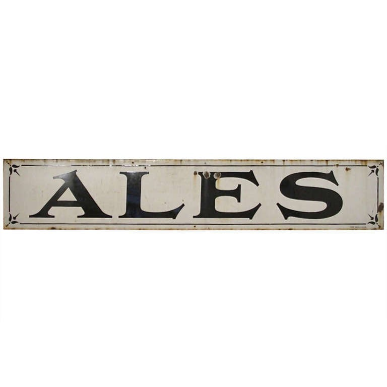 Large Enamel Pub Sign For Sale