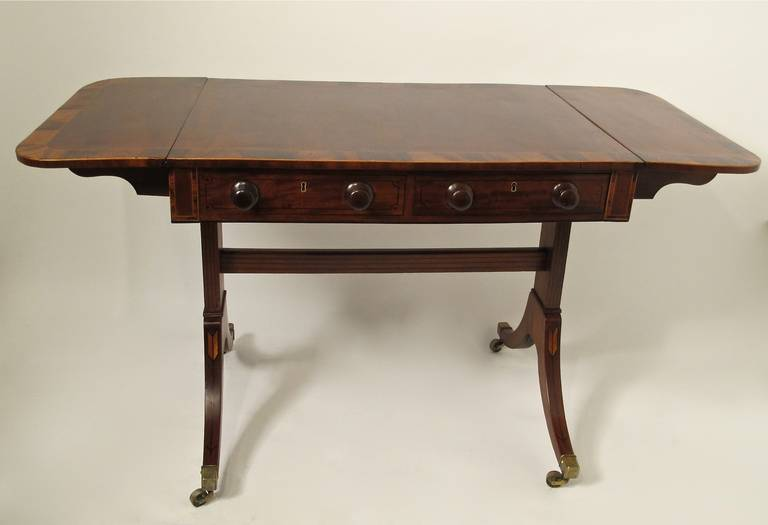 19th C English Regency Sofa Table For Sale At 1stdibs