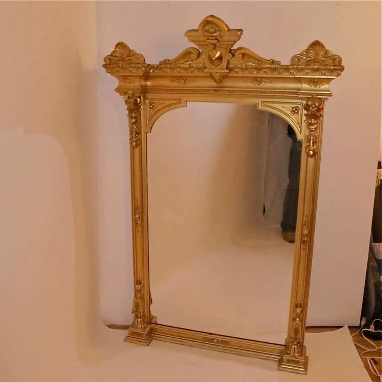 American victorian mantel pier mirror for sale at 1stdibs for Fireplace mirrors