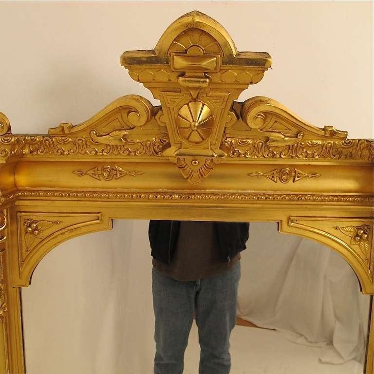 American Victorian Mantel Pier Mirror In Excellent Condition For San Francisco Ca