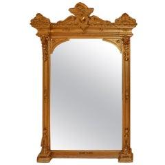 American Victorian Mantel Pier Mirror