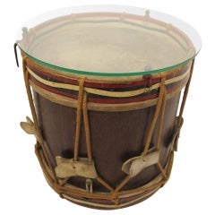 Antique Drum Side Table