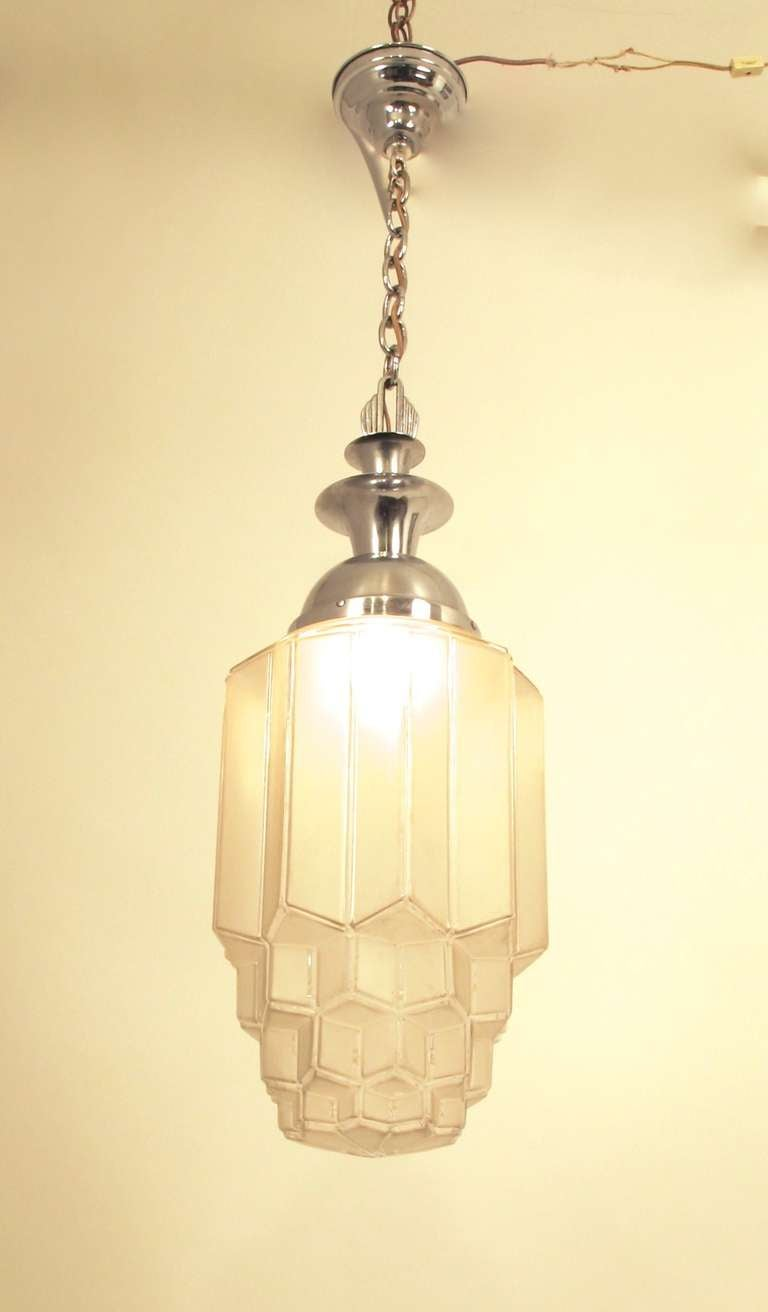 This Genuine Art Deco Hanging Ceiling Lamp Was Made In America The 20s