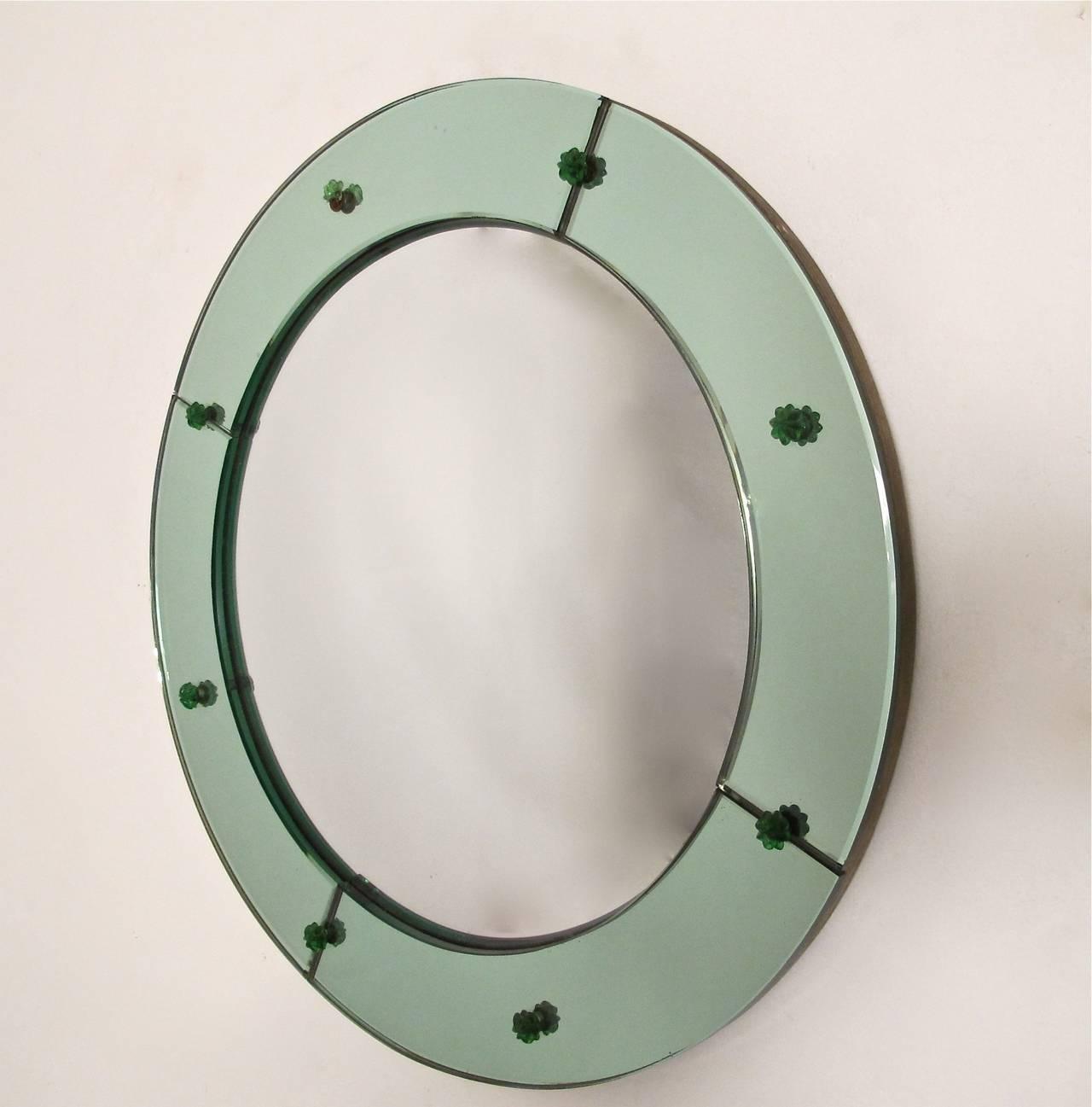 Mid-20th Century Art Deco Convex Mirror For Sale