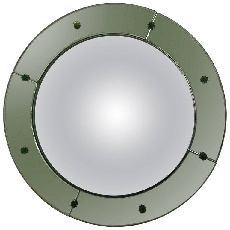 Art Deco Convex Mirror For Sale