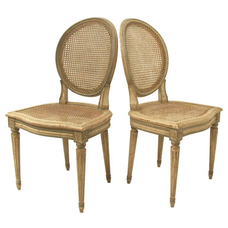 Set of 4 French Louis XVI Style Chairs at 1stdibs