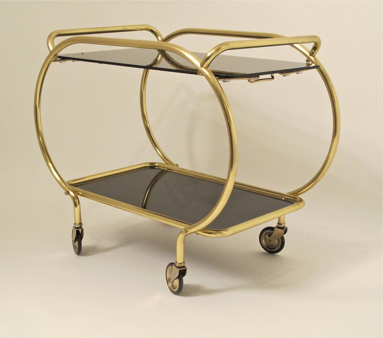 Art Deco Style Bar Cart In Excellent Condition For Sale In San Francisco, CA