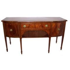 Early 19th Century English Sheraton Mahogany Sideboard/Buffet