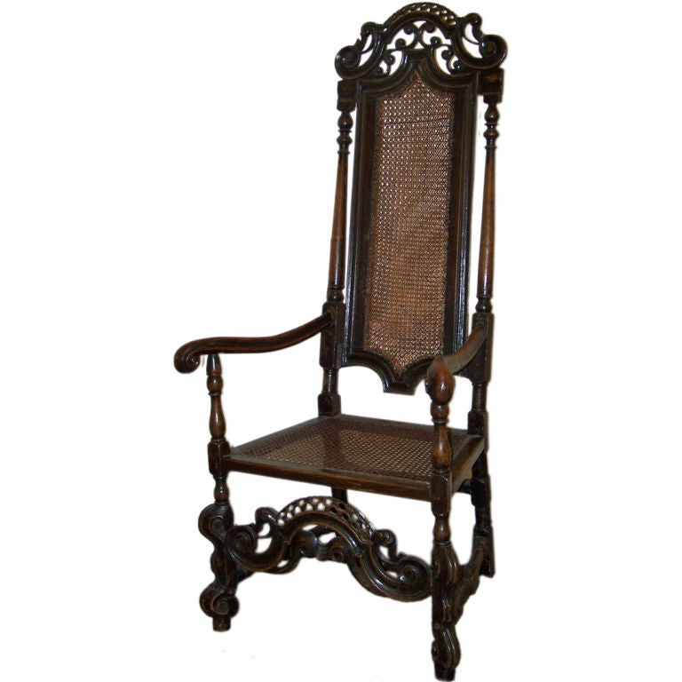 William And Mary Armchair At 1stdibs