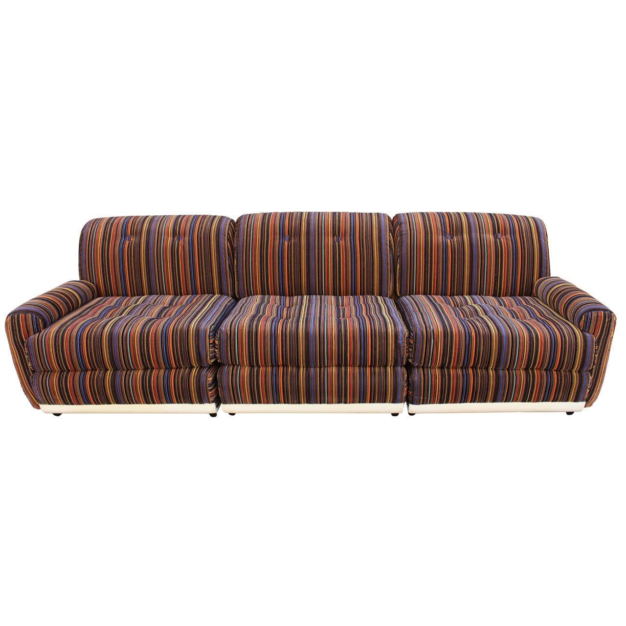 Italian Three-Seat Sofa in the Style of Mario Bellini For Sale