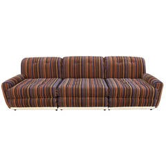 Italian Three-Seat Sofa in the Style of Mario Bellini