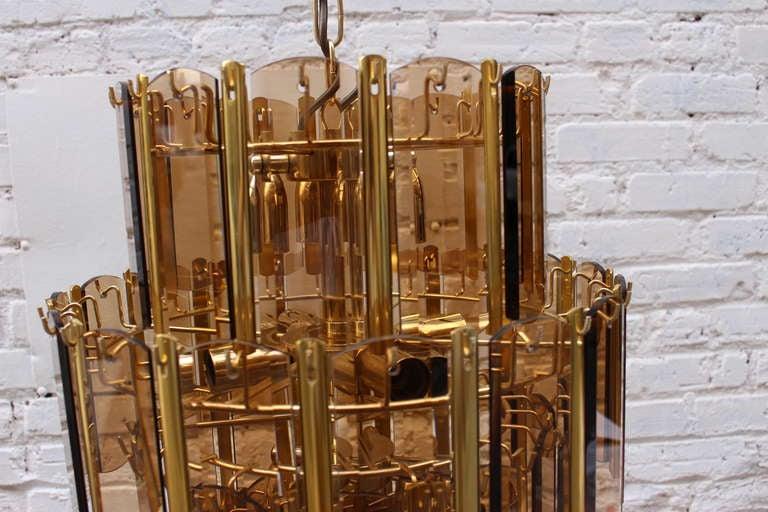 20th Century Italian Brass Chandelier For Sale