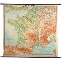 La France School Map from Austrian Library