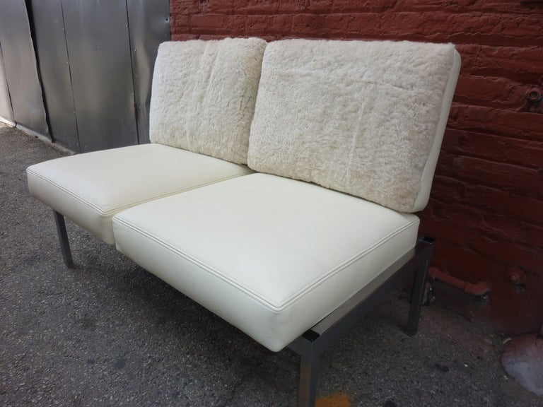 American Settee in the Style of Knoll, Milo Baughman For Sale