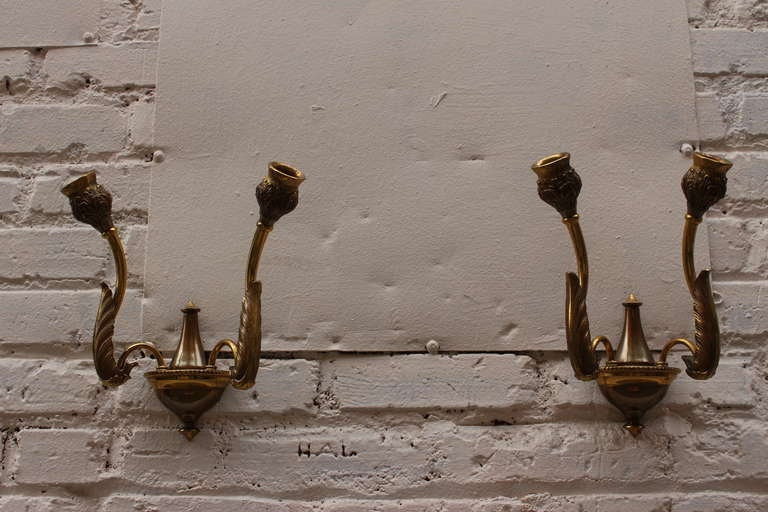 1950s Italian wall sconces, rewired.