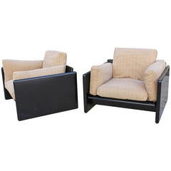 Italian Pair of Lounge Chairs by Gavina for Studio Simon