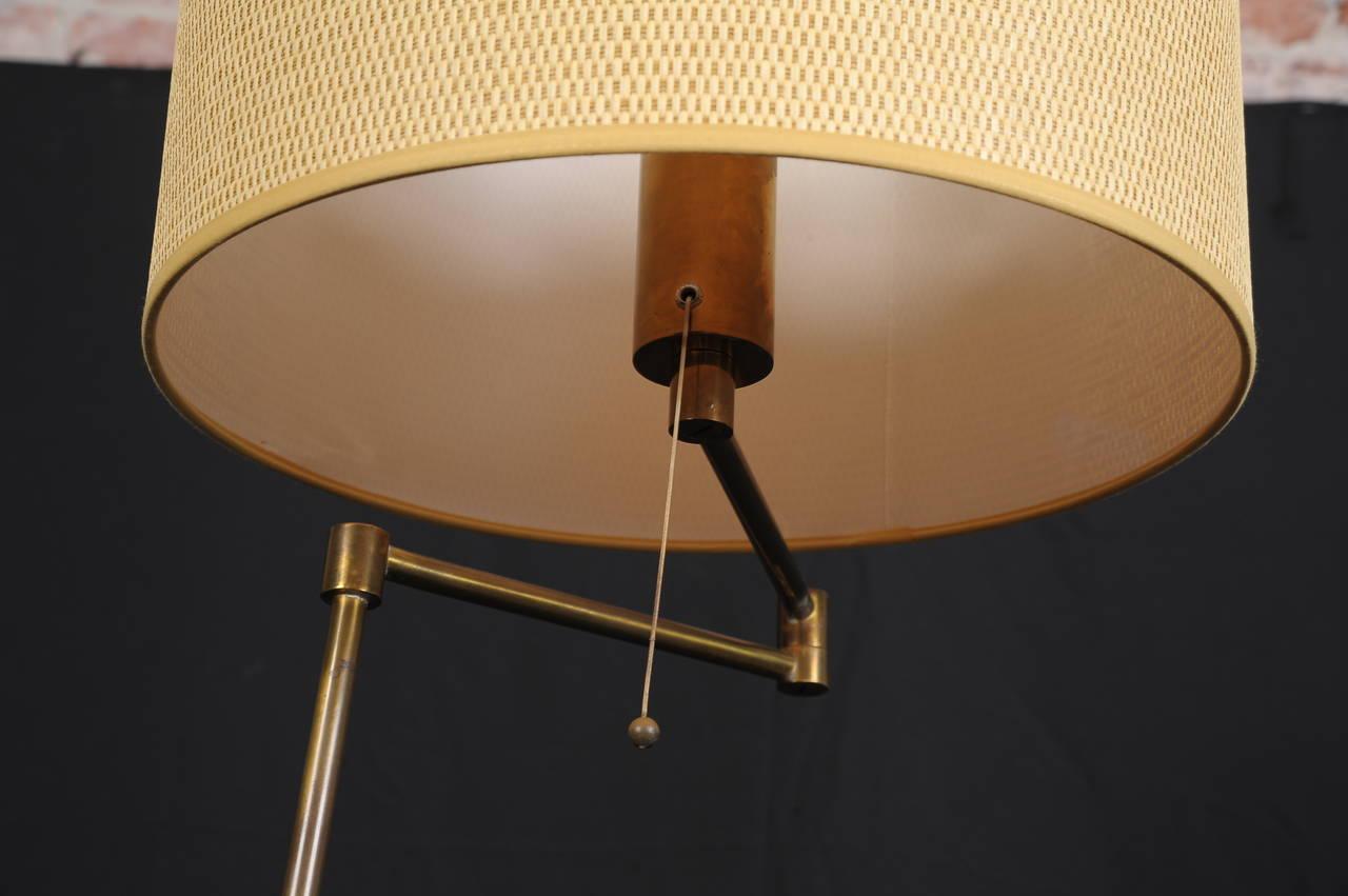 Italian Swing-Arm Floor Lamp in Style of Arredoluce For Sale