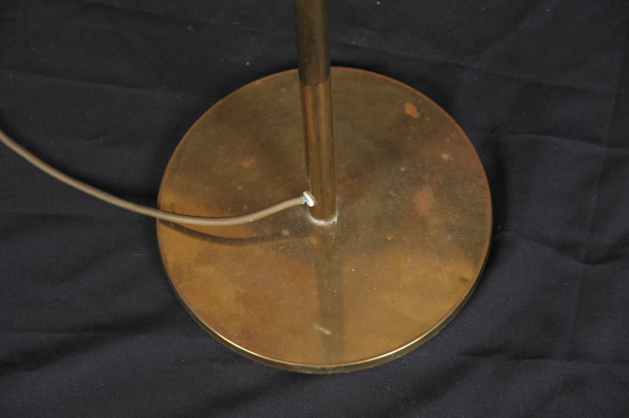 Swing-Arm Floor Lamp in Style of Arredoluce In Excellent Condition For Sale In Los Angeles, CA