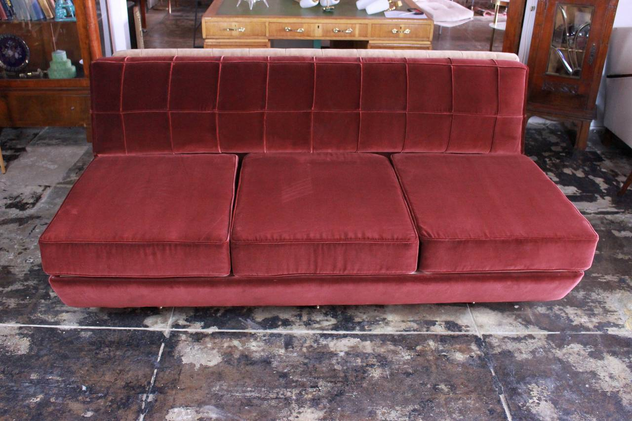 Italian Sofa after Marco Zanuso, circa 1960s Divano Sleep-o-Matic For Sale 1
