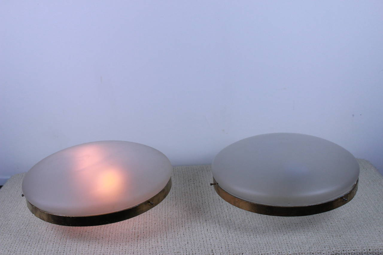 Italian Pair of Ceiling Lights For Sale 1