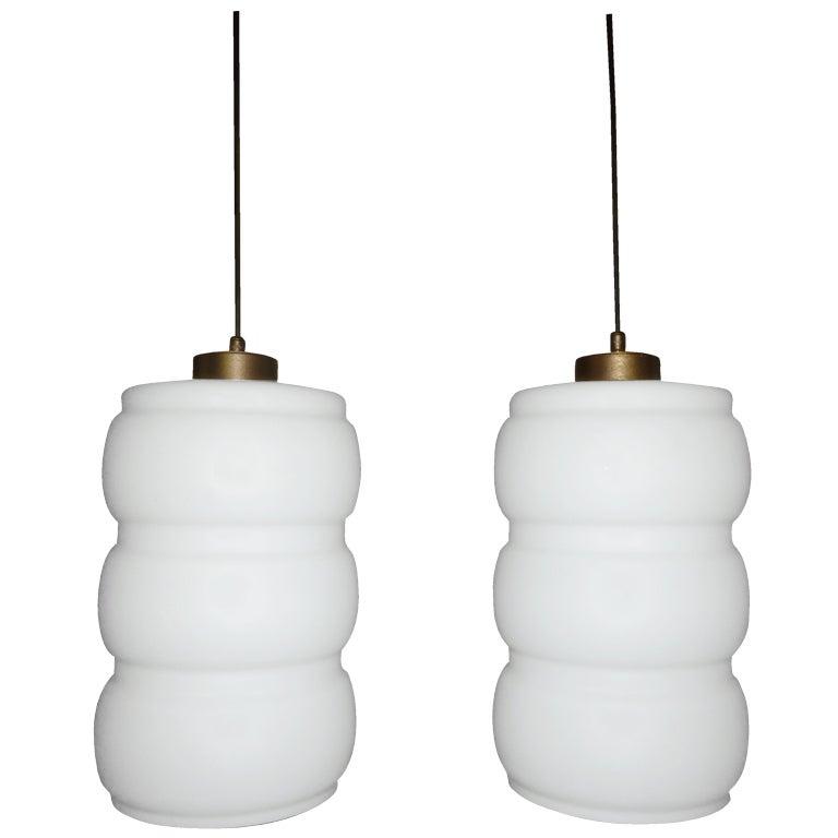 Italian Pair of Pendants in the Style of Stilnovo