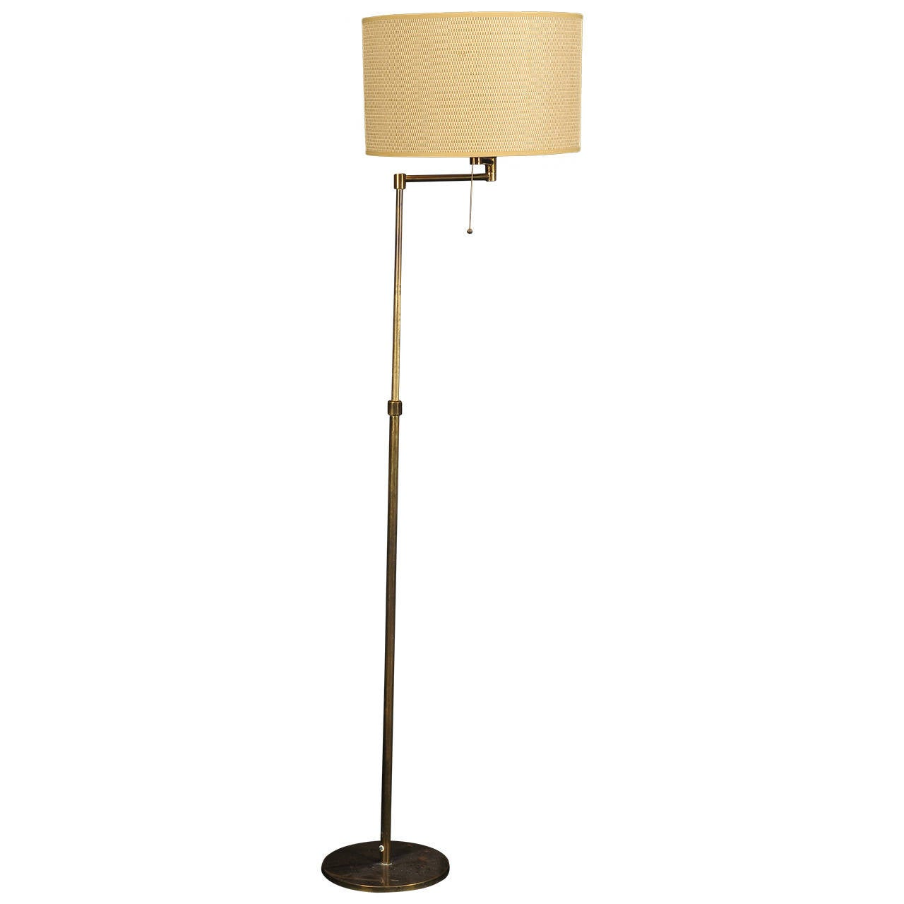 swing arm floor lamp by aredoluce for sale at 1stdibs. Black Bedroom Furniture Sets. Home Design Ideas