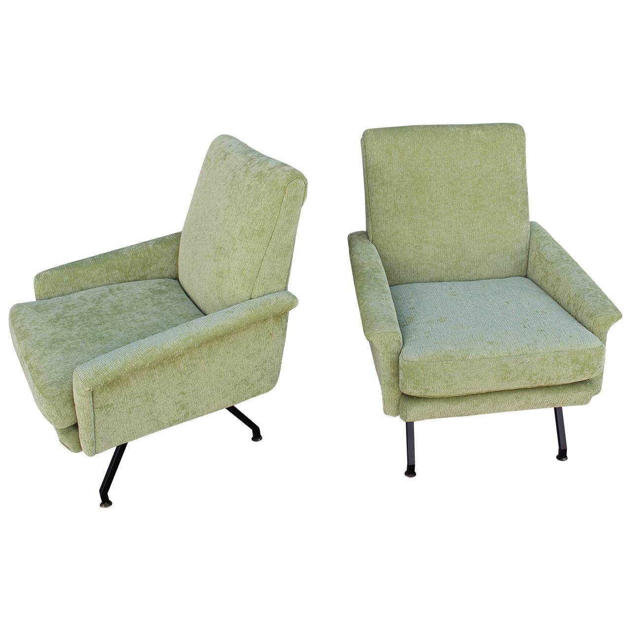 Italian Pair of Lounge Chairs 1