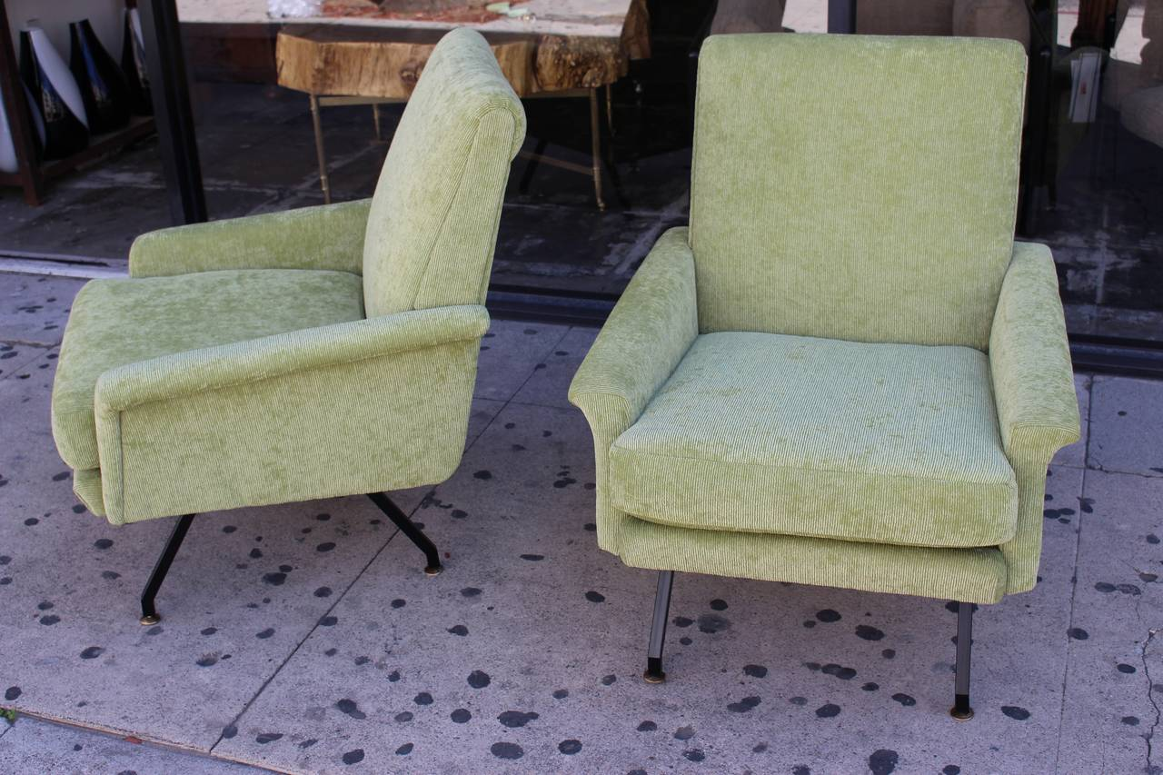Italian Pair of Lounge Chairs 3