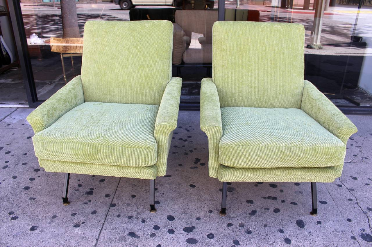 Italian Pair of Lounge Chairs 5