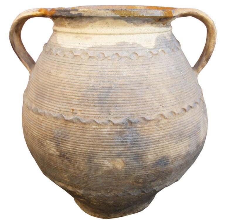Antique Italian Terracotta Olive Oil Jar at 1stdibs