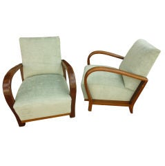Art Deco pair of arm chairs