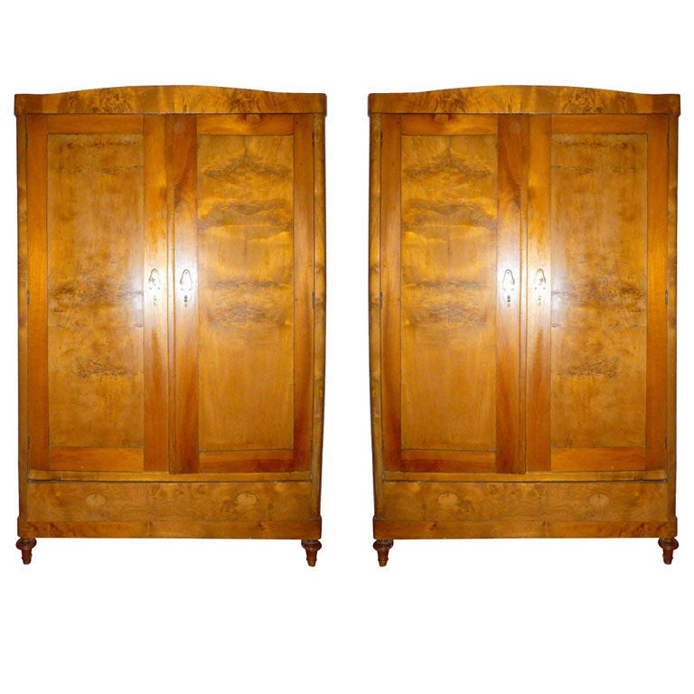 art deco pair of austrian armoires for sale at 1stdibs. Black Bedroom Furniture Sets. Home Design Ideas