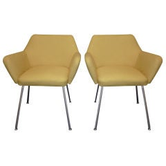 Italian Pair of Chairs Design by Gio Ponti and Alberto Rosselli