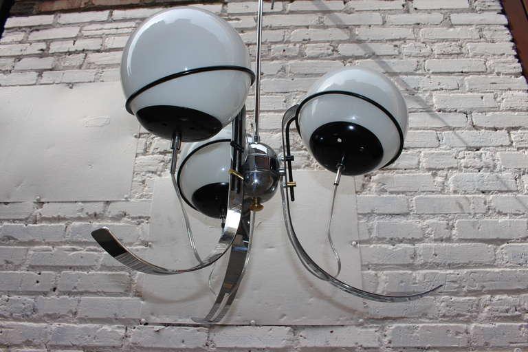 Italian Gino Sarfatti Style Chandelier For Sale