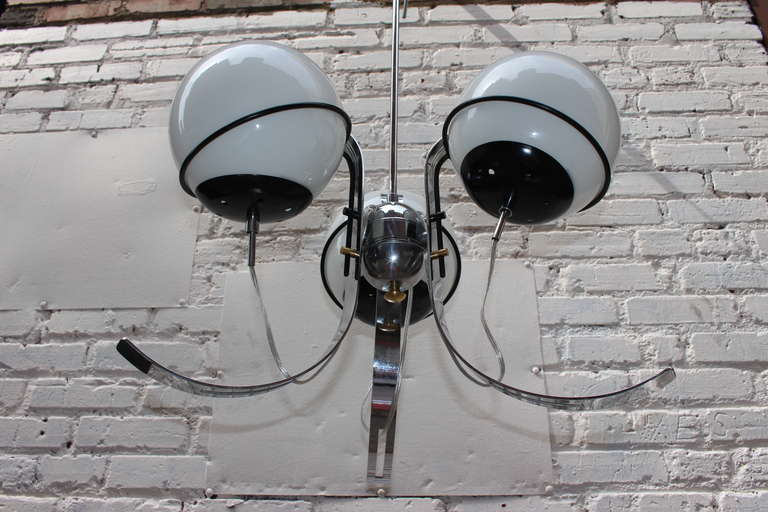 Mid-20th Century Gino Sarfatti Style Chandelier For Sale