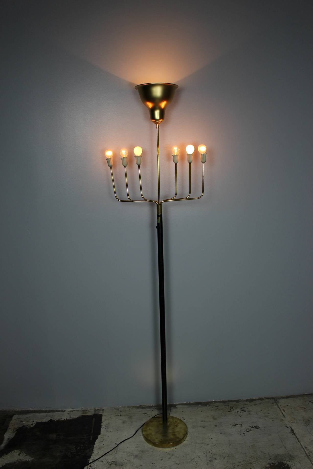 French floor lamp, sign Galli.