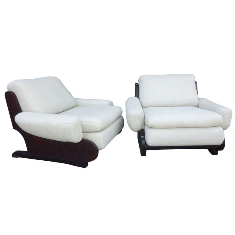 Pair of Sormani Lounge Chairs For Sale