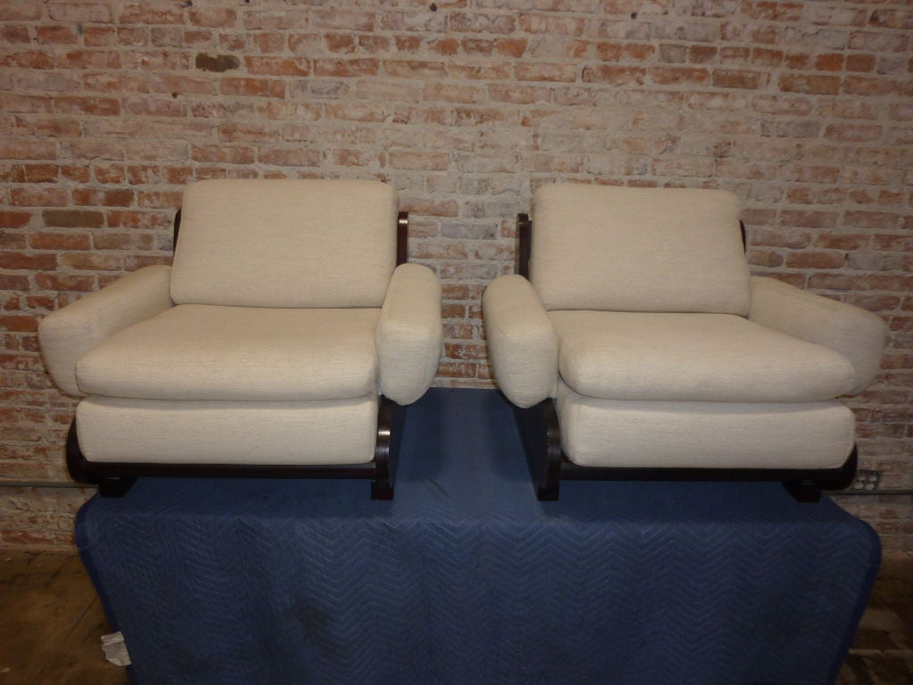 Pair of Sormani Lounge Chairs In Excellent Condition For Sale In Los Angeles, CA