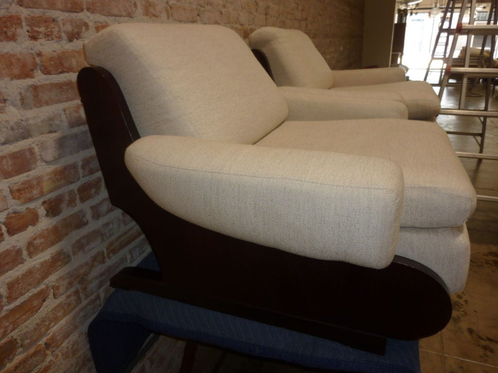 Mid-20th Century Pair of Sormani Lounge Chairs For Sale
