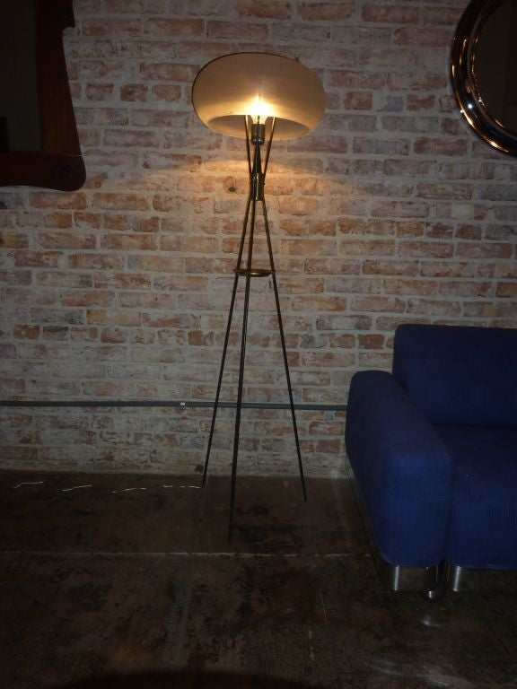 Italian Tripod Floor Lamp At 1stdibs