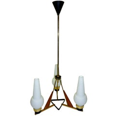 Italian 1950s Chandelier After Stilnovo