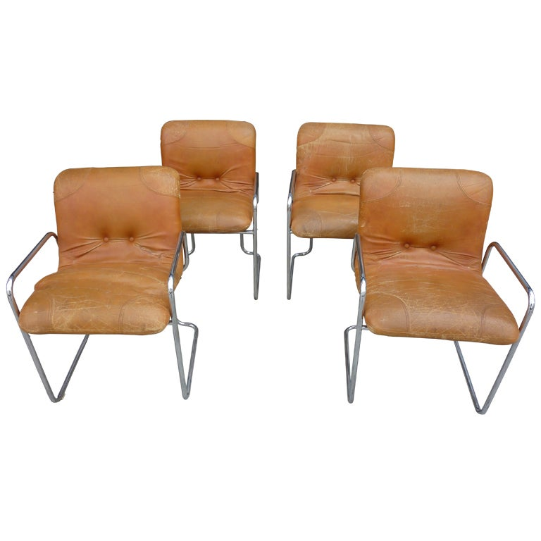 italian leather dining room chairs after pace at 1stdibs