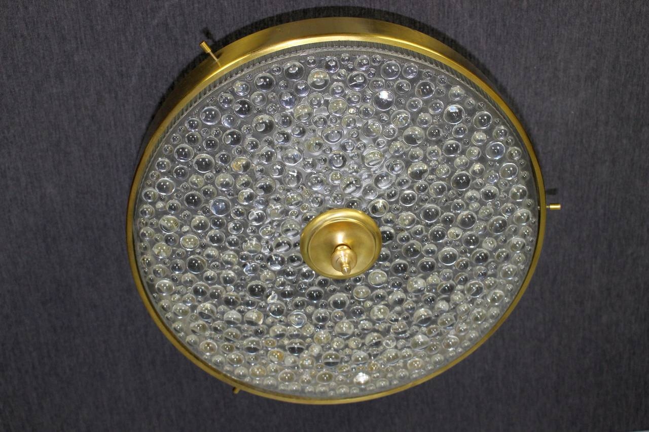 1950s brass ceiling light.