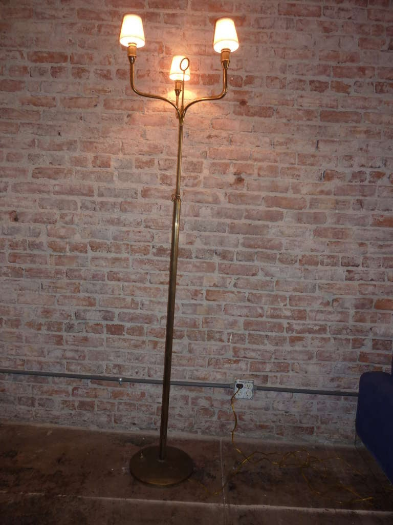Art Deco Italian Brass Floor Lamp 2